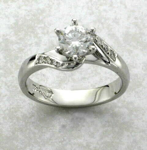 Center and Side Diamonds